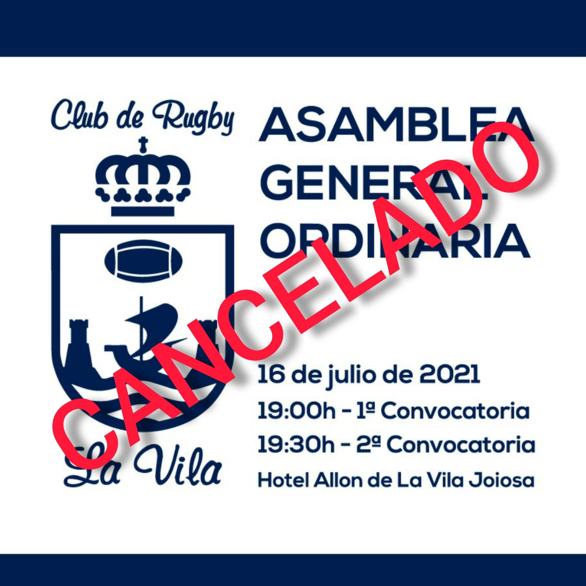 Asamblea cancelada